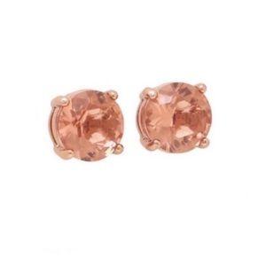 Kate Spade Light Peach Rose Gold Stud Earrings